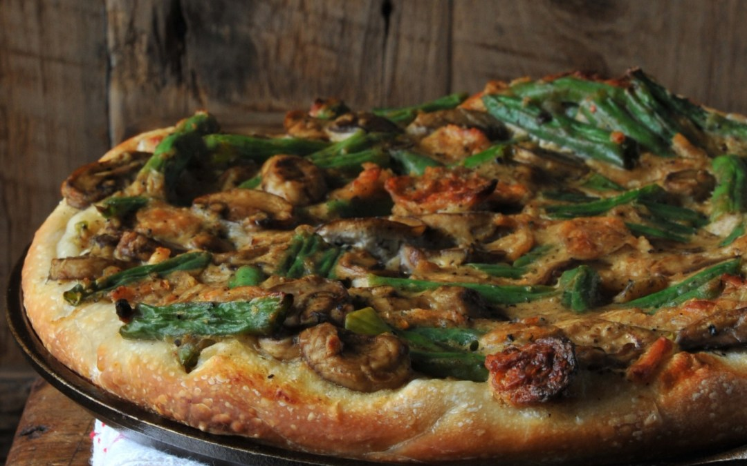 Vegan Green Bean Casserole Pizza Recipe