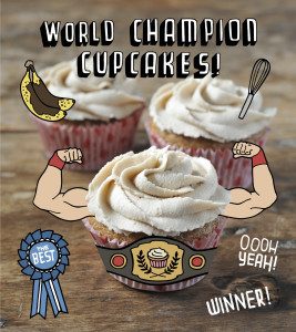 Banana bread French toast cupcakes - from my cookbook!
