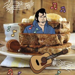 Peanut butter banana French toast - from my cookbook!
