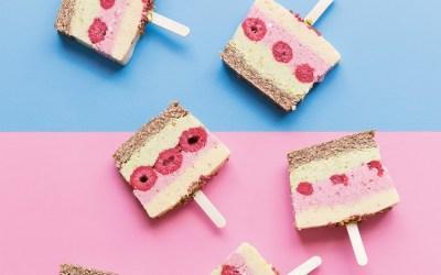 Guilt-Free Nice Cream: Mango, Berry and Lime Nice-Cream Slice Recipe