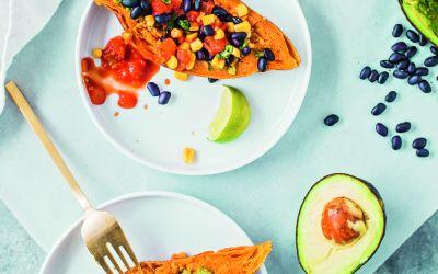 Frugal Vegan: Sweet Potato Breakfast Boats Recipe