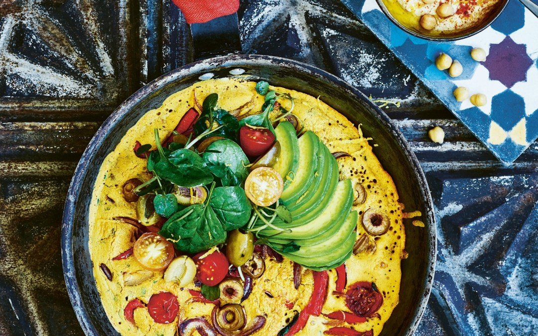 Vegan 100: Vegan Moroccan Chickpea Omelette Recipe