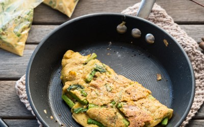 Vegan Yack Attack On the Go! Blog Tour: Vegan Asparagus Omelet in a Bag Recipe