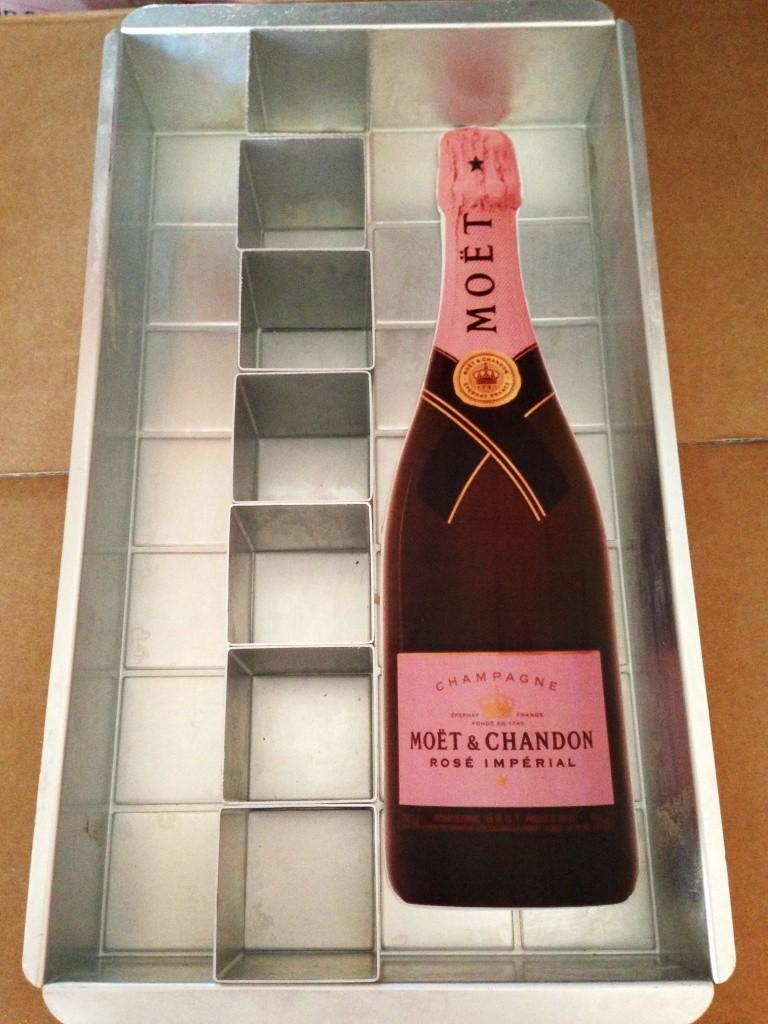 Personalised Champagne Bottle Celebration Cake Bakearama