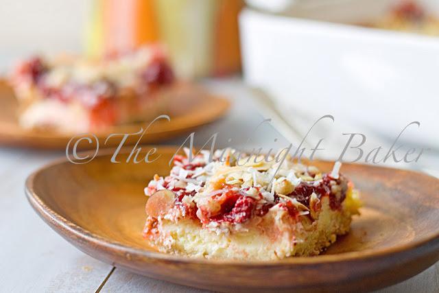 Almond Cherry Cheesecake