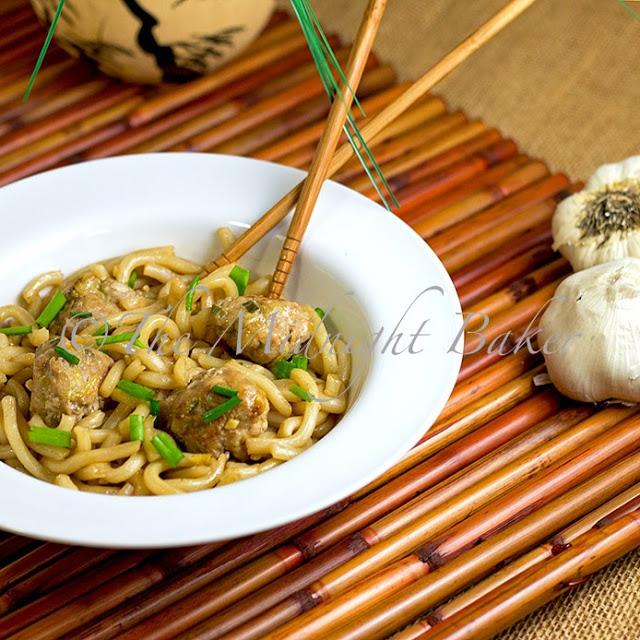 Asian Spaghetti & Meatballs