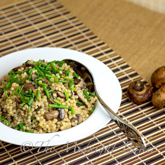 Toasted Israeli Couscous with Mushrooms