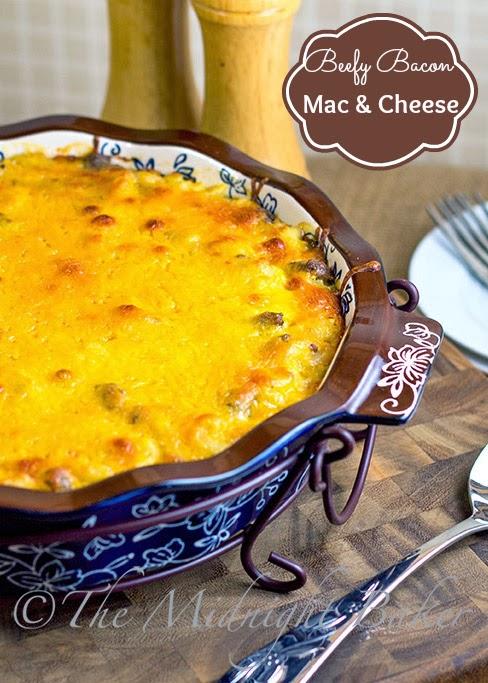 Beefy Bacon Mac & Cheese #Macaroni&Cheese #TempTationsBakeware #BeefMacAndCheeseRecipe