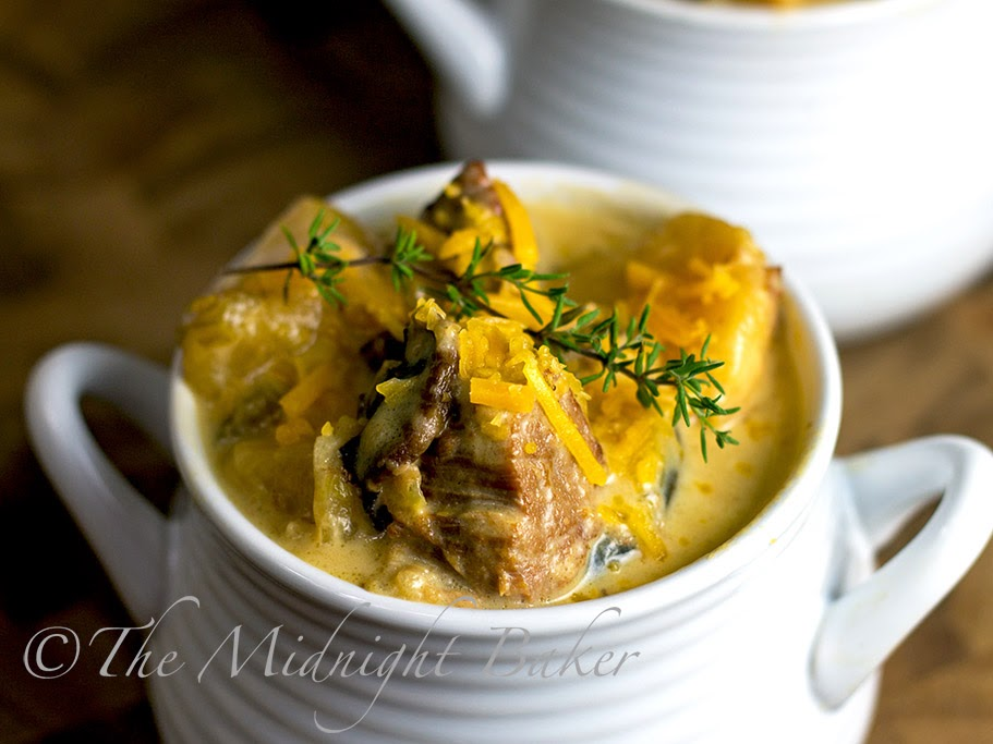 Steak and Ale Cheese Soup #SlowCooker #CrockPot #CreamSoup #SteakAndAleSoupRecipe