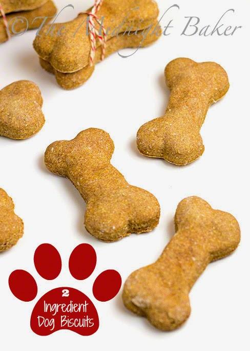 2 Ingredient Dog Biscuits #HomemadeDogBiscuits #DogTreats #PetTreats