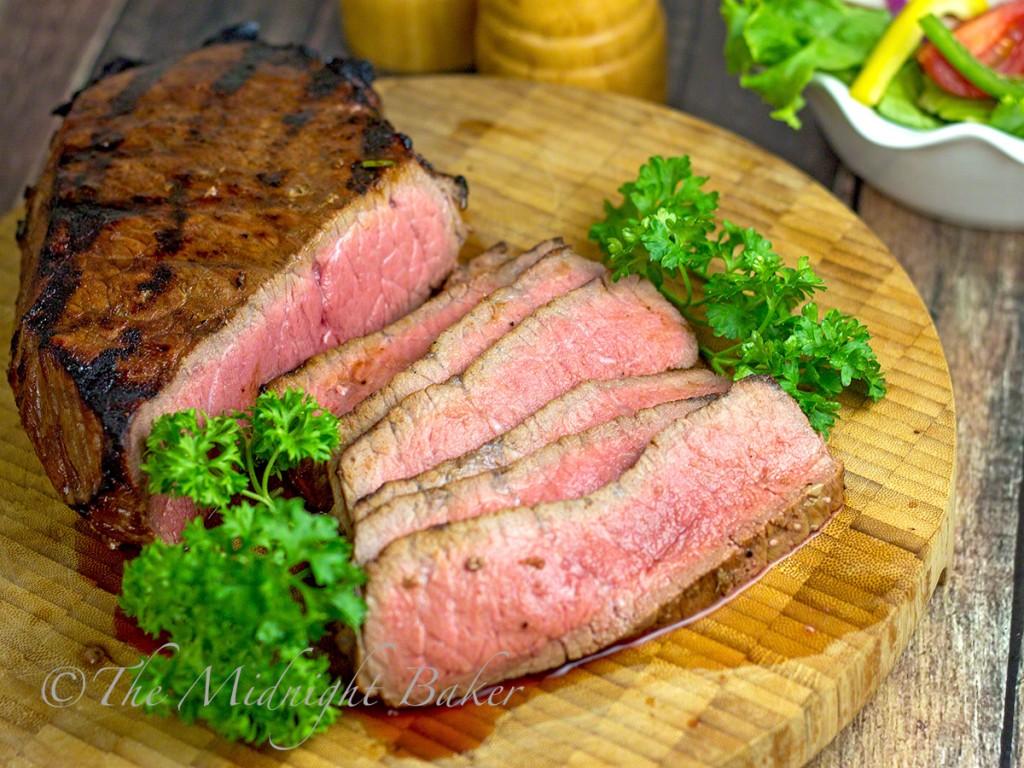 Neil's Special Angus Steak   bakeatmidnite.com   #shop #PriceChopperBBQ #LondonBroil