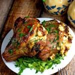 Fontina and Caramelized Onion Stuffed Pork Chops