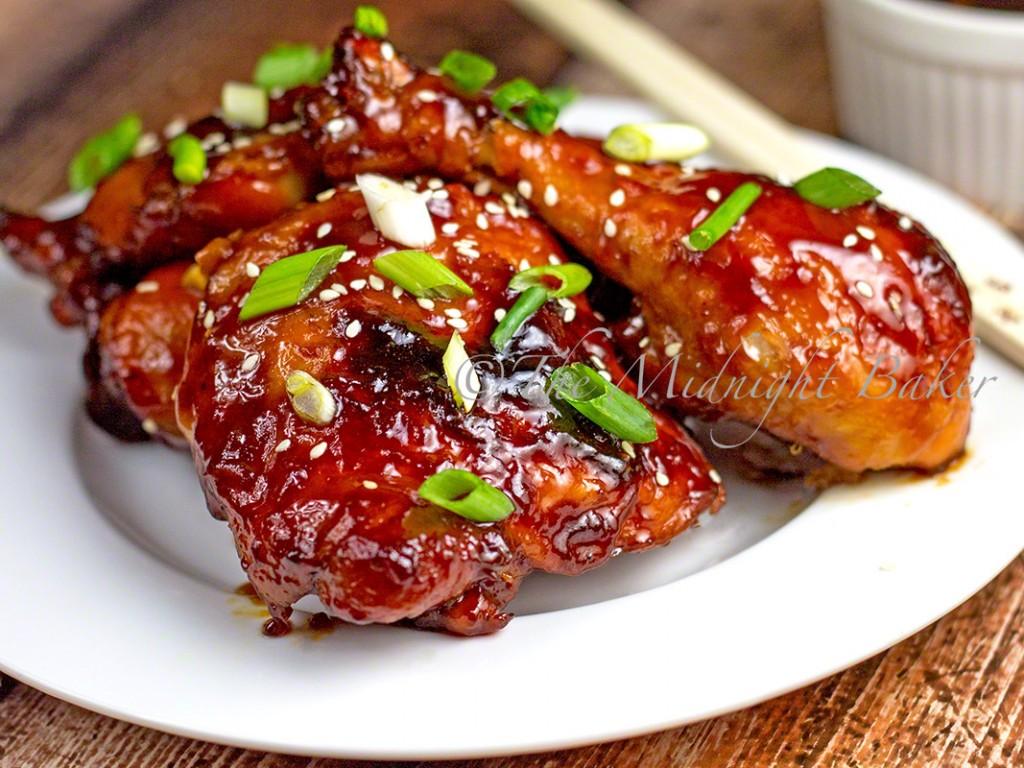 Sticky Chicken   bakeatmidnite.com   #chicken #sweetandsour
