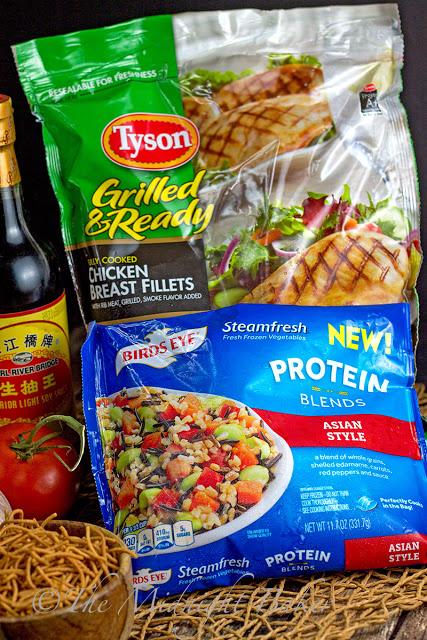 Crunchy Asian Chicken Salad   bakeatmidnite.com   #chicken #healthy #FastFreshFilling #PMedia #ad