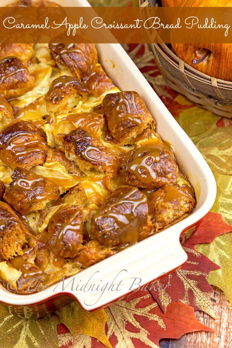 Caramel Apple Croissant Bread Pudding