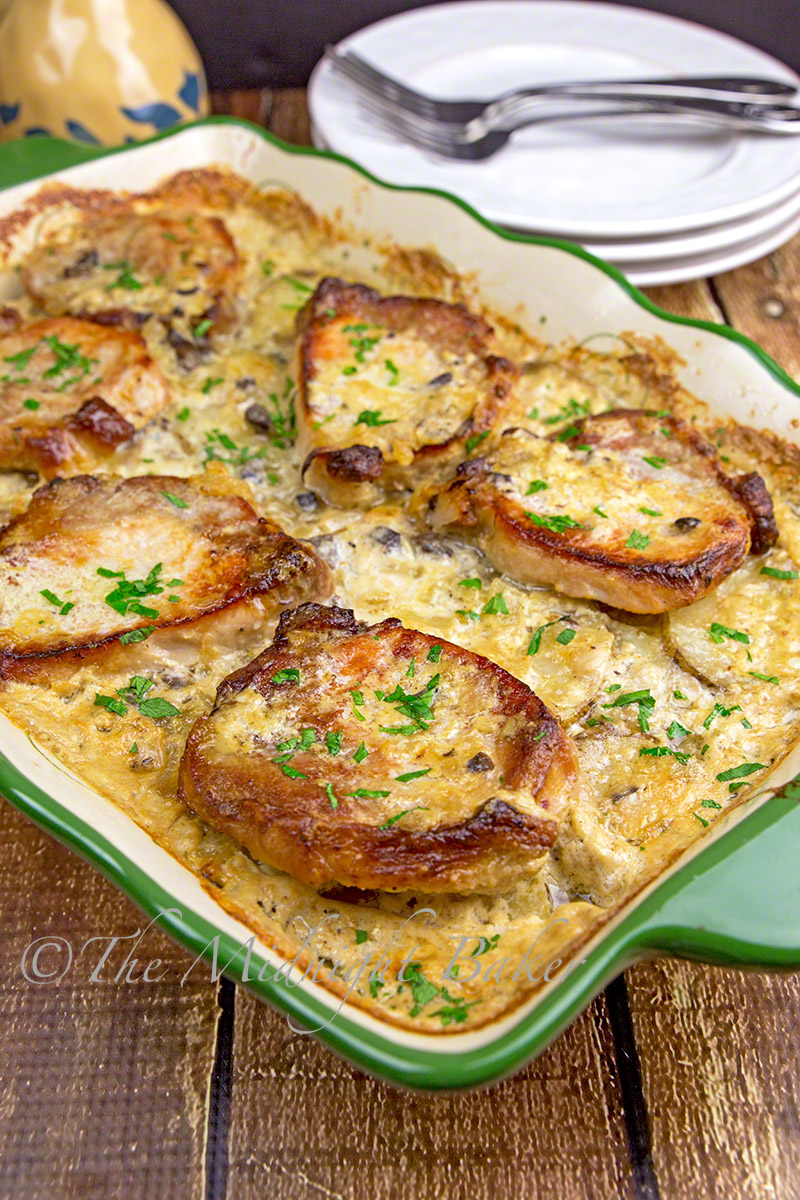 Pork Chops & Scalloped Potatoes Casserole