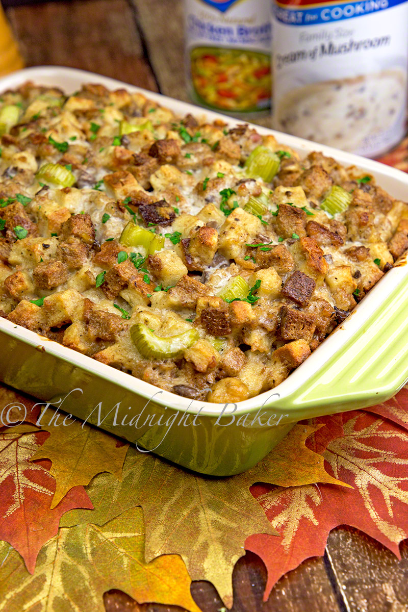 Delicious stuffing/dressing that creatively uses pantry staples.