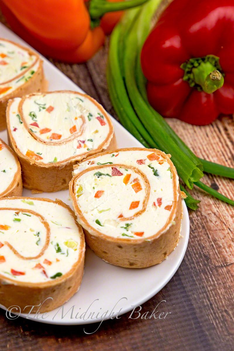 Vegetable Cream Cheese Bites