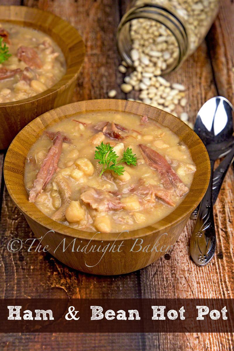 Slow Cooker Ham and Bean Hot Pot