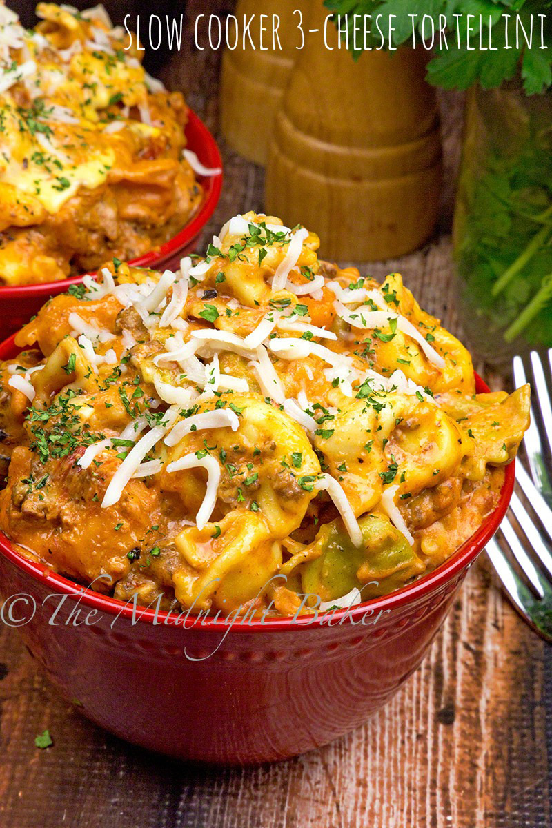 This 3-cheese tortellini is super easy in the slow cooker.