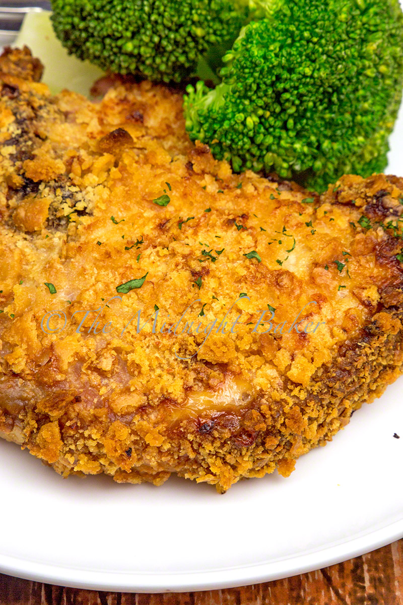 Buttered Ritz cracker crumbs turn delicious pork chops into awesome.