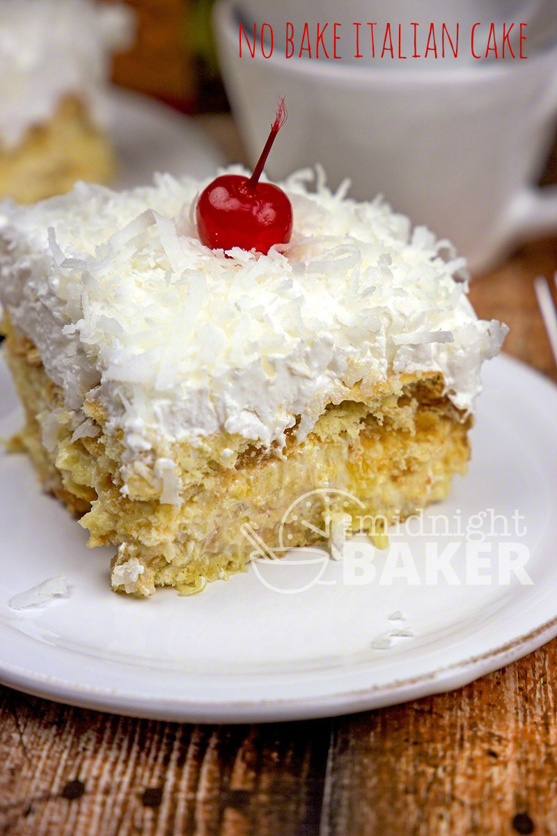 A no-bake cake that's got a creamy pineapple filling sandwiched between wafer cookies. A real picnic or potluck pleaser. Easy too!