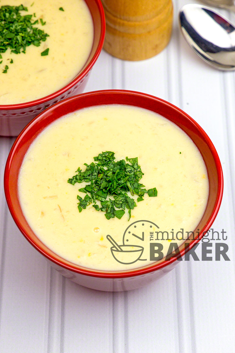 Thick and hearty soup loaded with cauliflower and cheese. A vegetarian meal in itself.