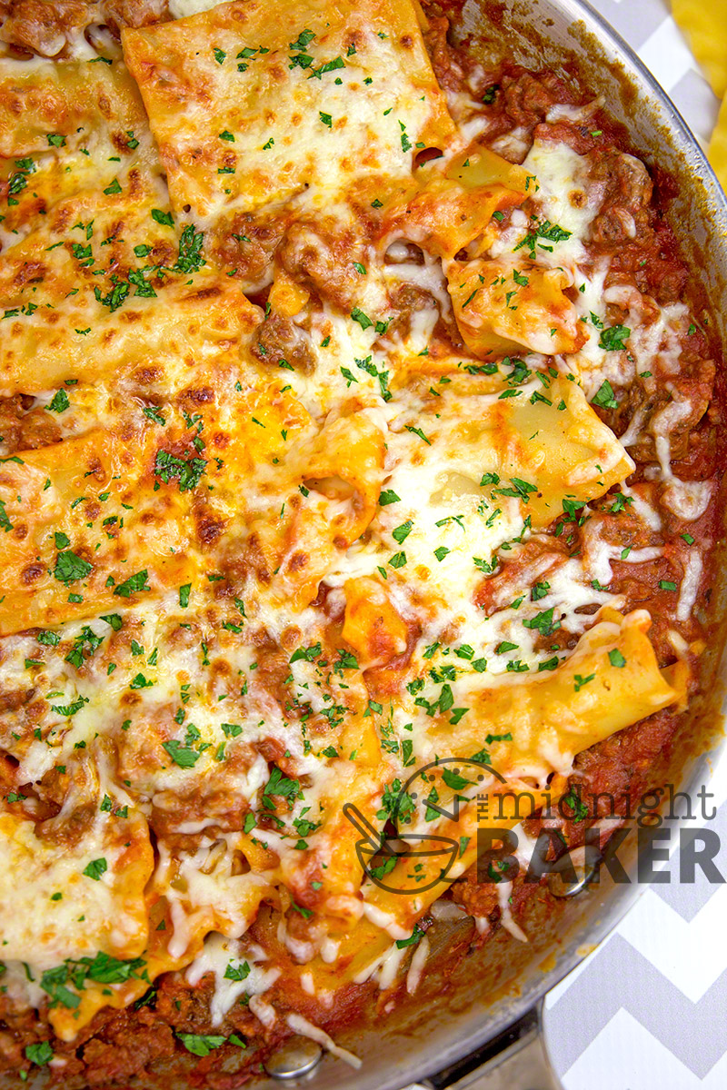 When the family wants lasagna but you don't have enough noodles, this skillet version is your answer!