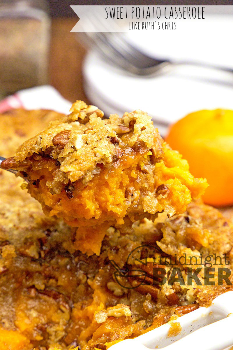 Copycat of the famous Ruth's Chris Sweet Potato Casserole with a few extras added!