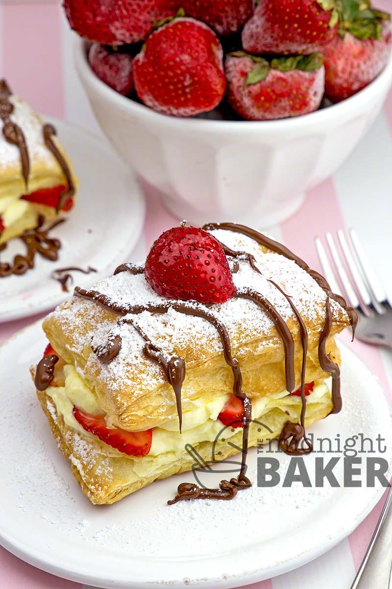 Easy-to-make strawberry napoleons make and elegant dessert