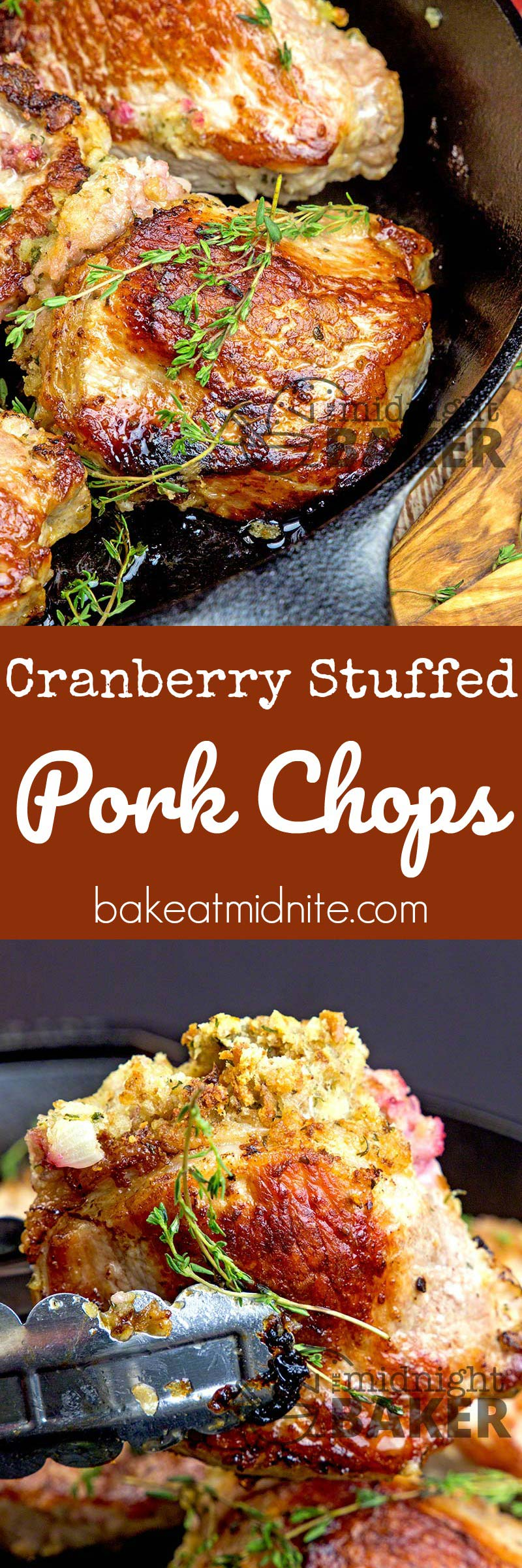 Whole cranberry sauce gives ordinary pork chops the kick they need.