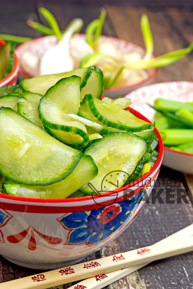 Not your usual cucumber salad! This one has an Asian flair.
