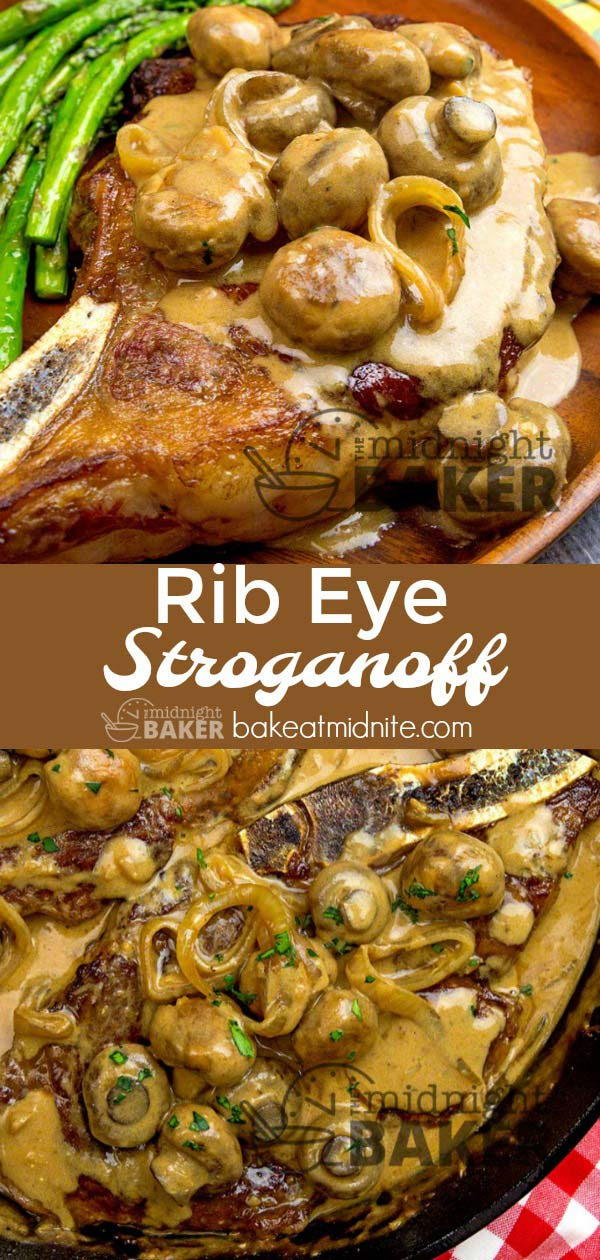 Rib eye stroganoff is a meal that makes a great impression! The sauce is awesome!