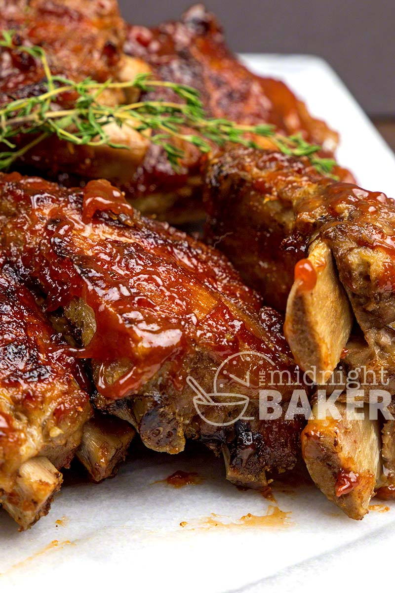 Tangy guava glazes these succulent pork ribs. Quick and easy in the Instant Pot