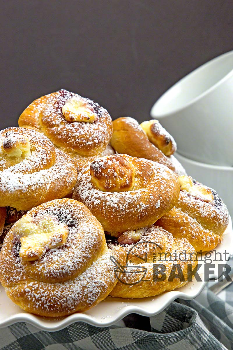 Make these danish quick and easy in the air fryer. They can be made conventionally too.
