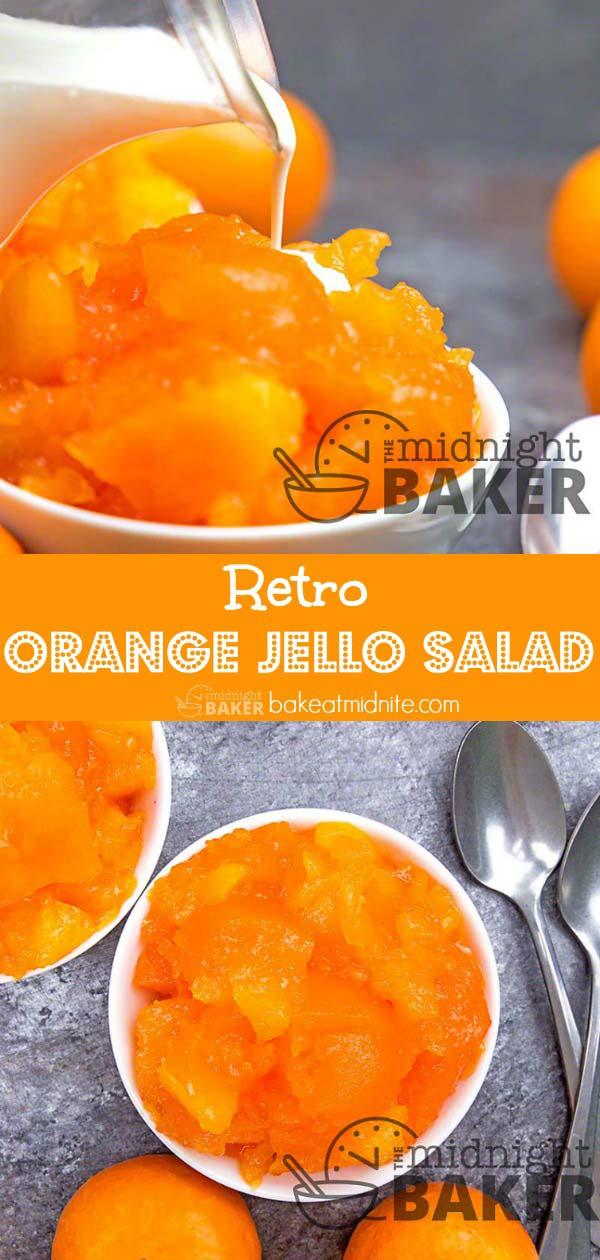 Enjoy this easy retro jello salad for dessert or a snack