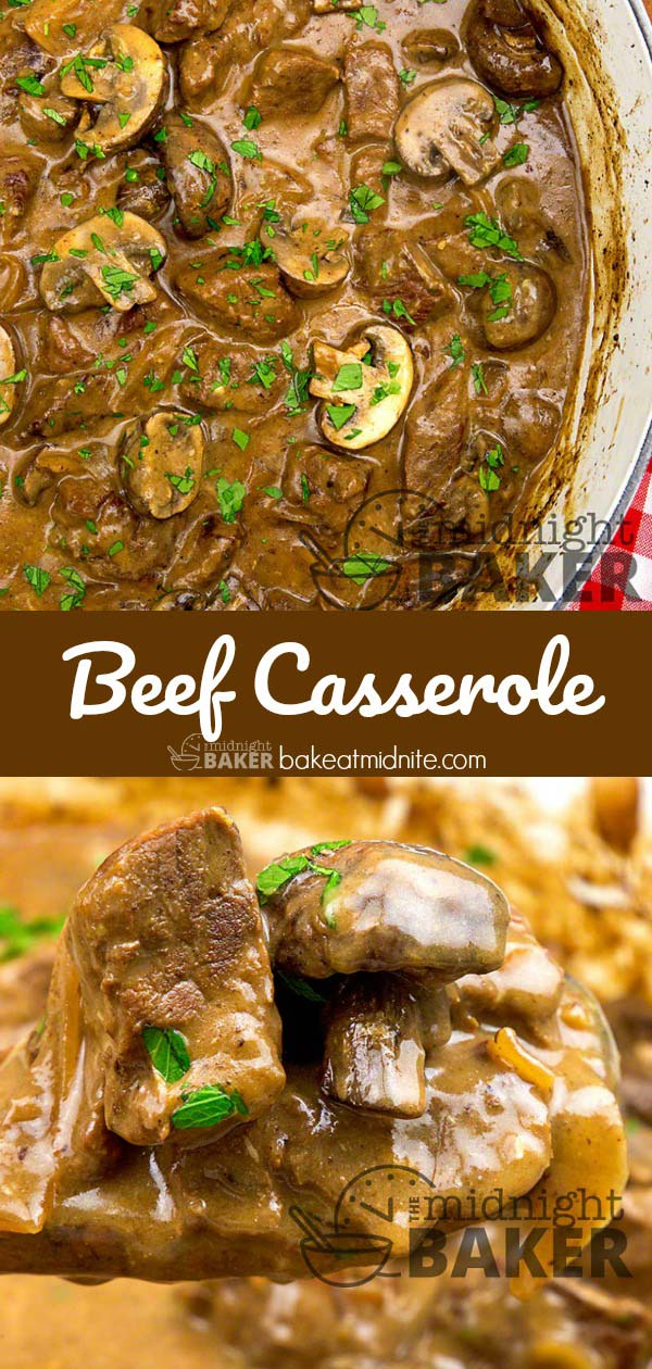 Don't generic name of beef casserole fool you. It's one of the tastiest stews you will ever eat.