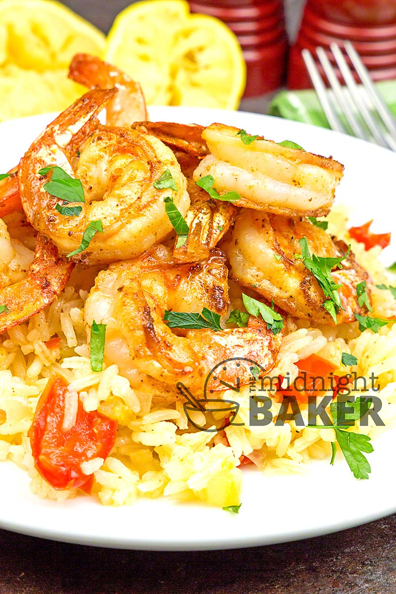 A shrimp and rice dish that's sure to become a hit. Other meats may be substituted for the shrimp.