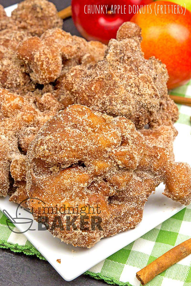 Whether you call them fritters or donuts, these fried treasures are full of apples and cinnamon.
