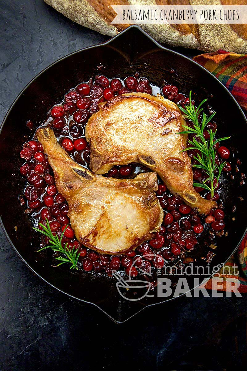What is better than sweet pork, tangy cranberries and a hint of balsamic? This recipe is so easy and done in less than 30 minutes.