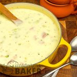 This soup is a combination of cream of ham and potato and broccoli cheese soup.
