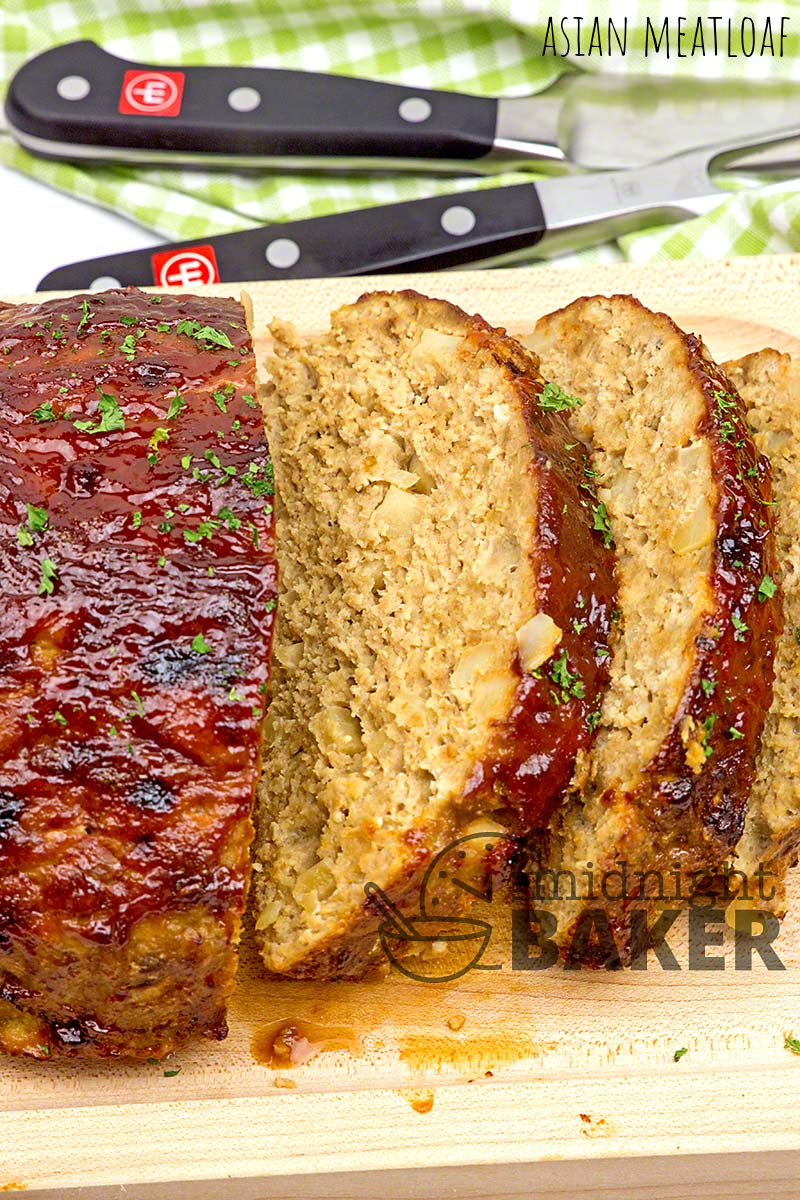 Made with ground turkey or better yet ground chicken, this meatloaf with subtle Asian flavoring will be a big hit.