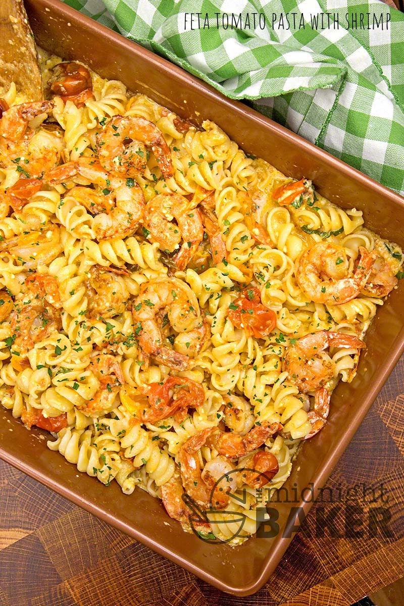 This is that viral feta and tomato pasta that's on TikTok. Lends itself to many additions.