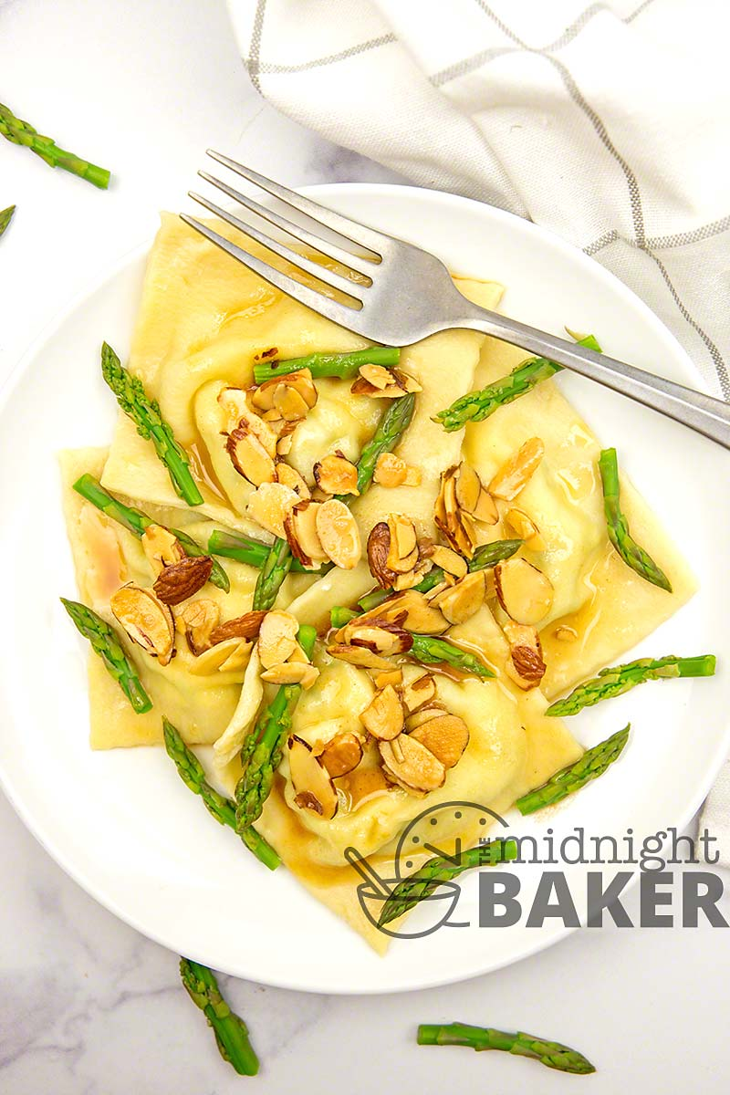These asparagus ravioli only sound gourmet. They're ridiculously easy!