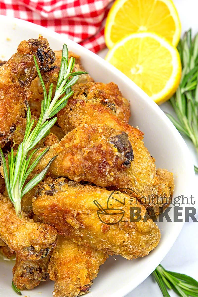 Lemon rosemary wings