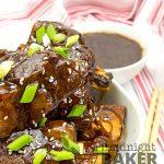 Slow cooker Korean short ribs