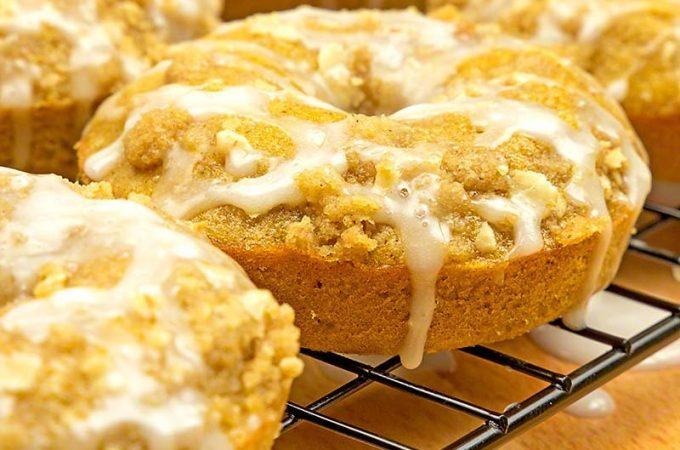 Baked pumpkin crumb donute