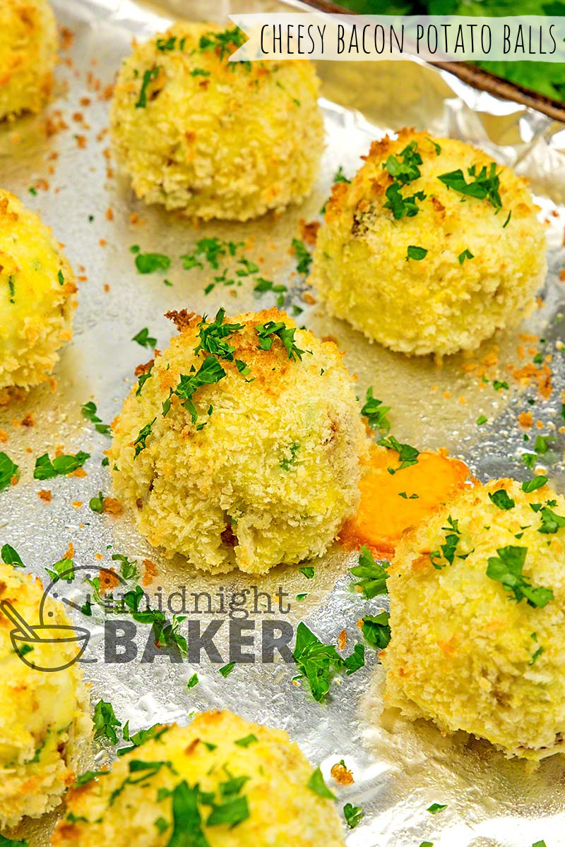 Cheesy bacon potato balls