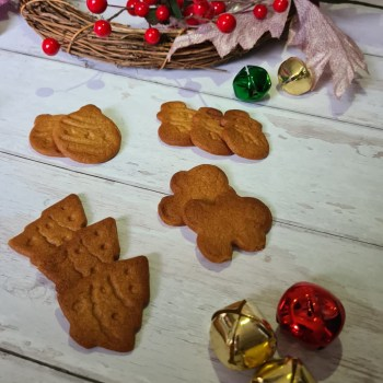 Gingerbread biscuits on a white background