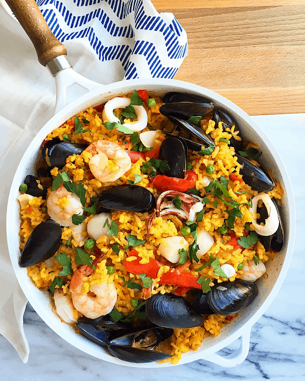 Easy one skillet seafood paella baked ambrosia forumfinder Gallery